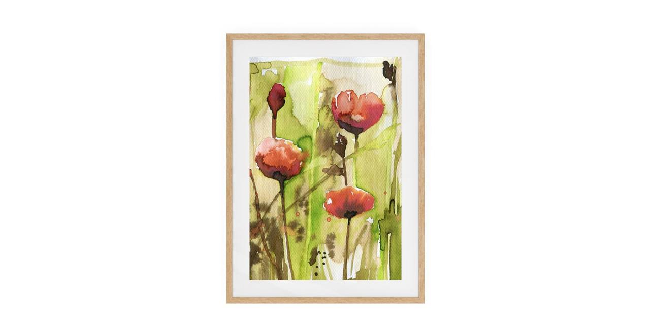 The Stem Print Natural Wood Frame Small