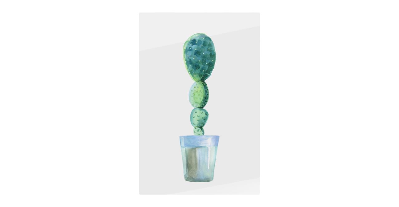 The Succulent Print Metal Print Small Cactus