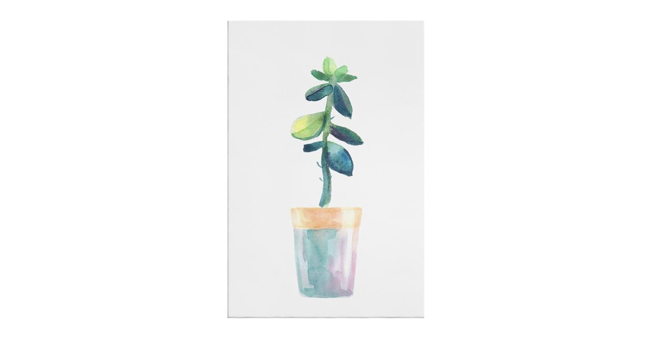 The Succulent Print Canvas Medium Leaf