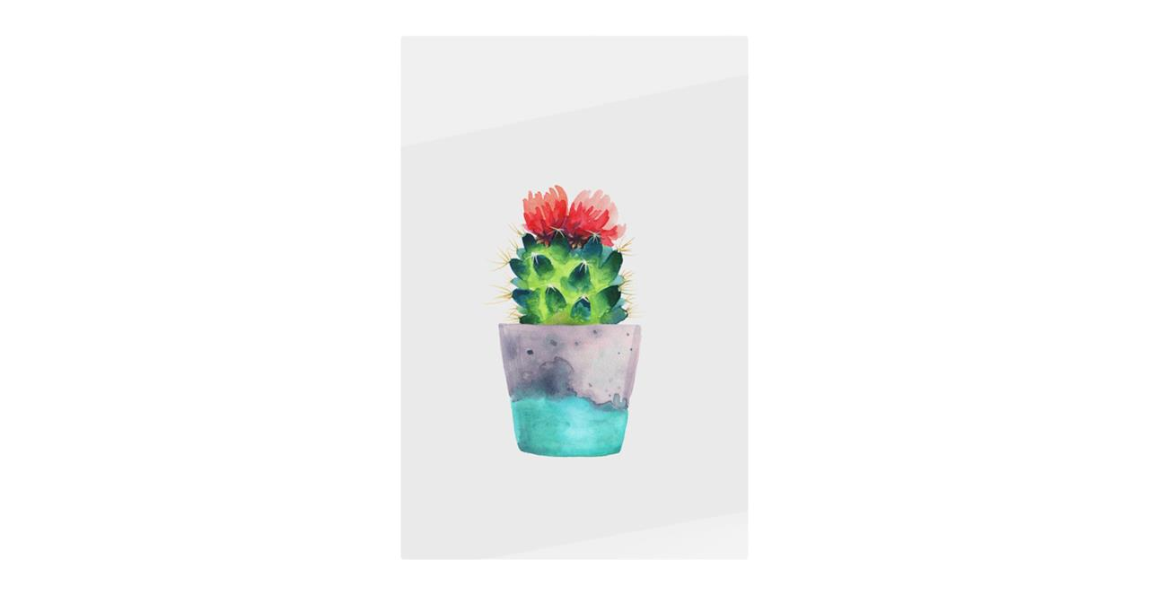 The Succulent Print Metal Print Small Blossom One