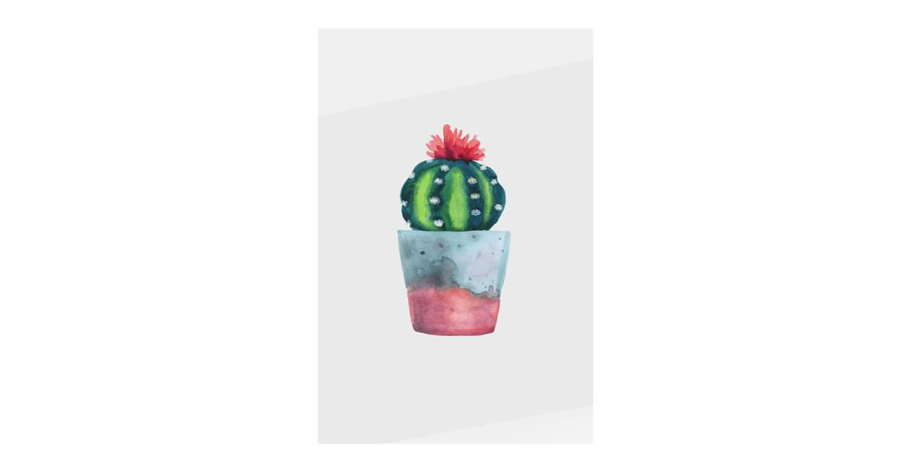 The Succulent Print Metal Print Small Blossom Two