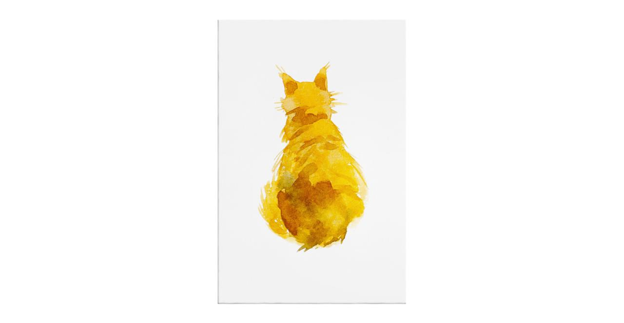 The Sunshine Cat Print Canvas Small