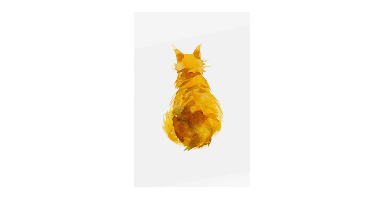 The Sunshine Cat Print Metal Print Small