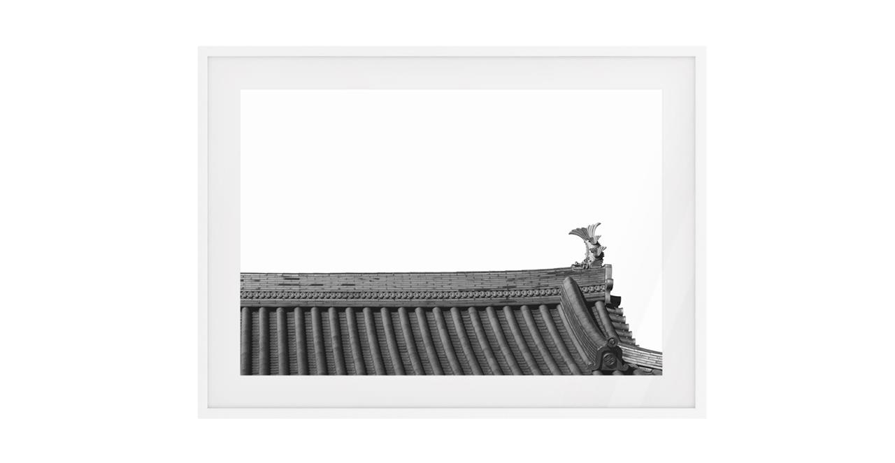The Temple Print White Wood Frame Small