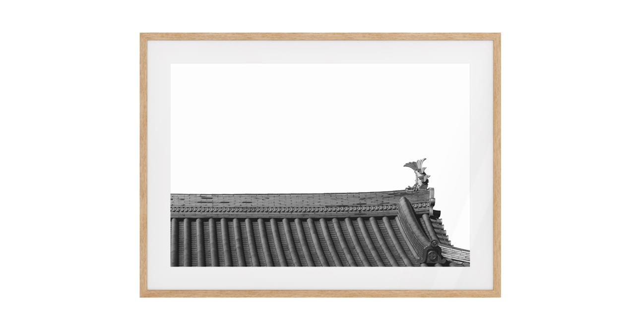 The Temple Print Natural Wood Frame Small