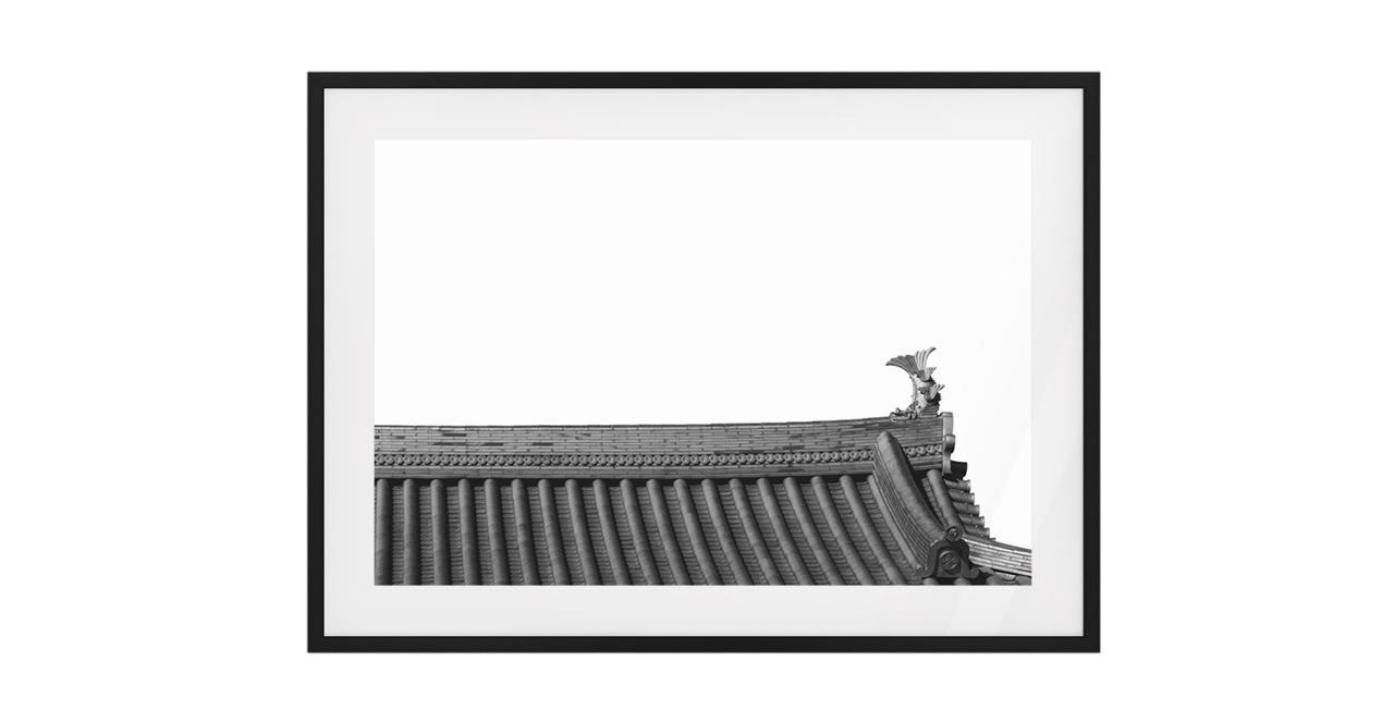 The Temple Print Black Wood Frame Medium