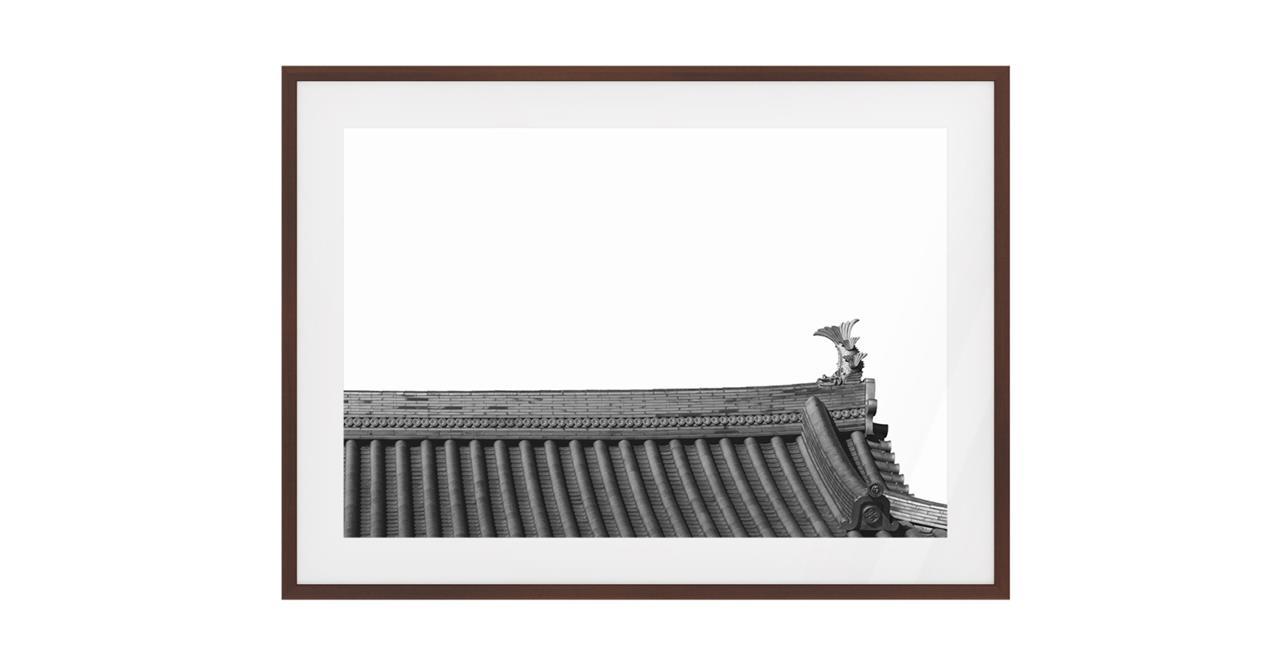 The Temple Print Dark Brown Wood Frame Medium