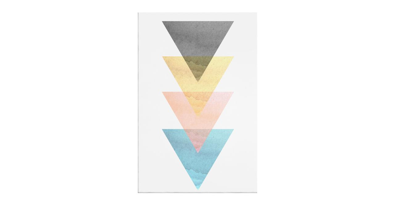 The Triangle Print Canvas Small