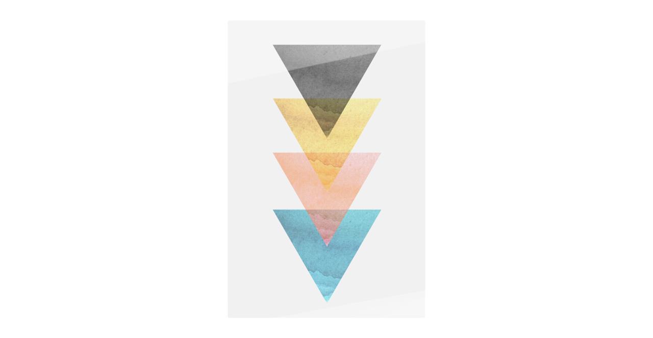 The Triangle Print Metal Print Medium