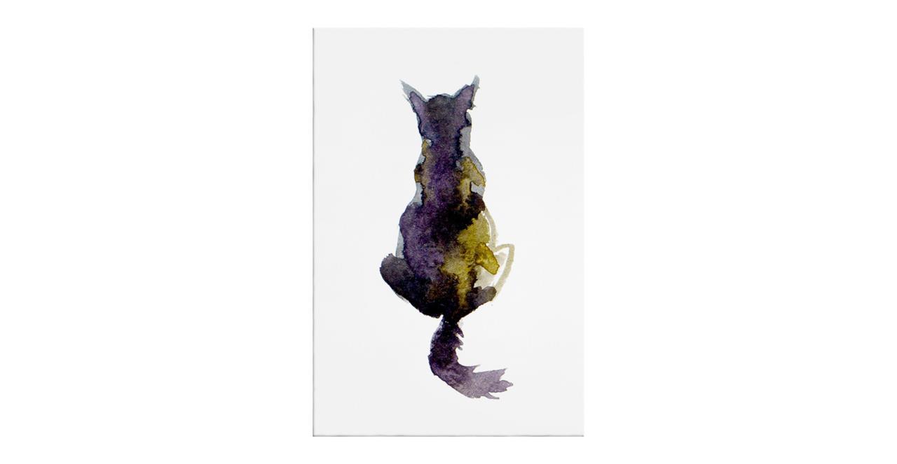 The Violet Cat Print Canvas Medium