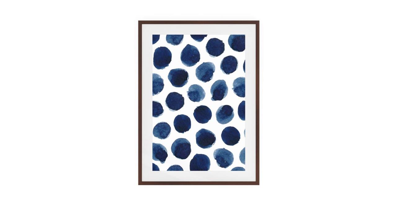 The Wabi Sabi Print Dark Brown Wood Frame Medium Impermanent