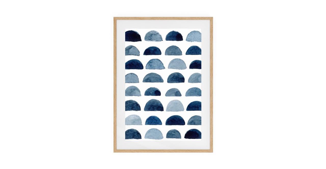 The Wabi Sabi Print Natural Wood Frame Small Incomplete