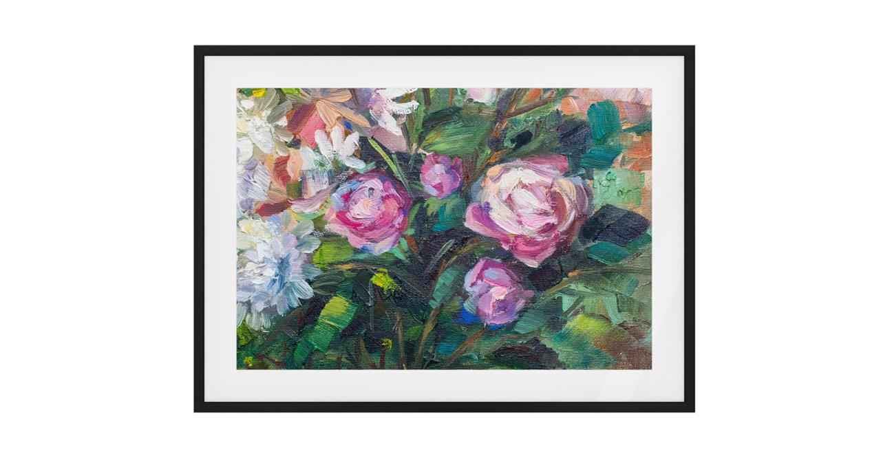 The Garden Bed Print Black Wood Frame Small