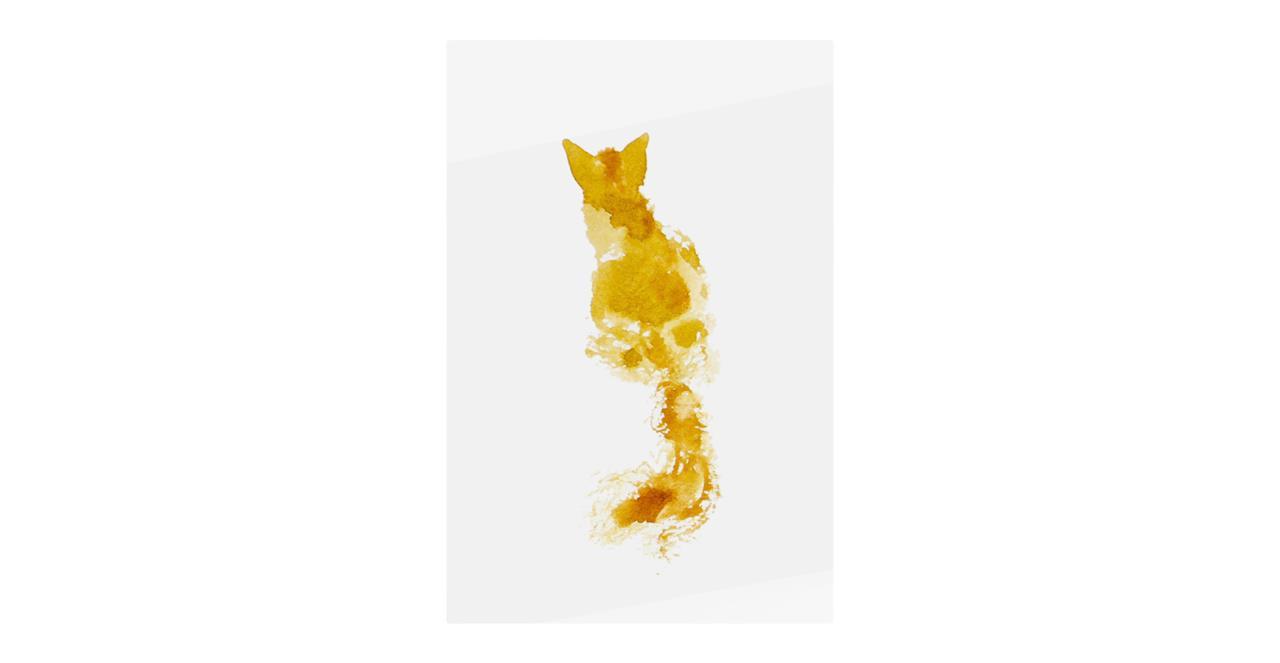 The Golden Cat Print Metal Print Small