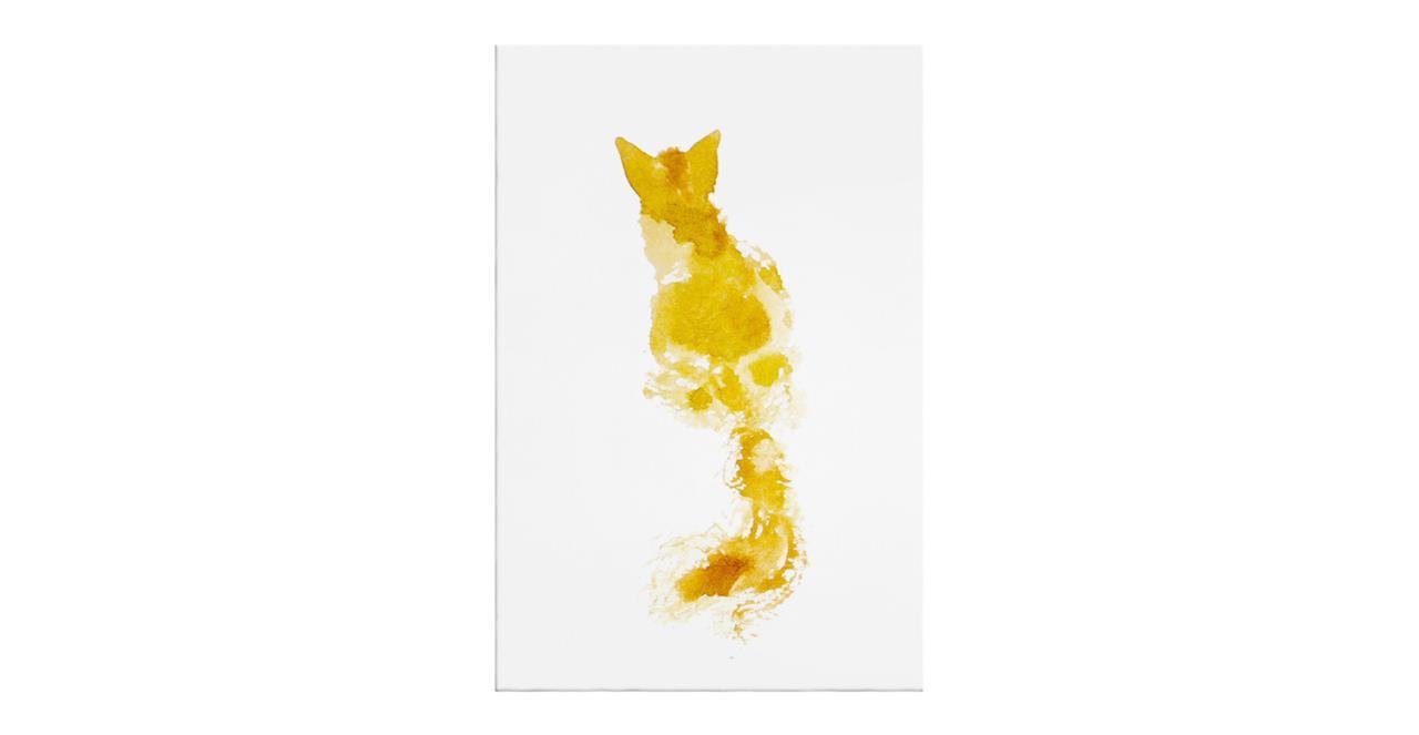The Golden Cat Print Canvas Medium