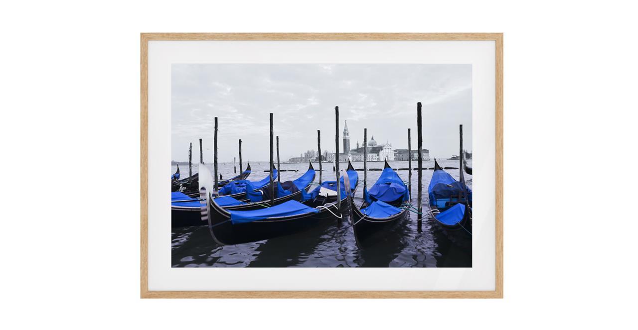 The Gondola Print Natural Wood Frame Small