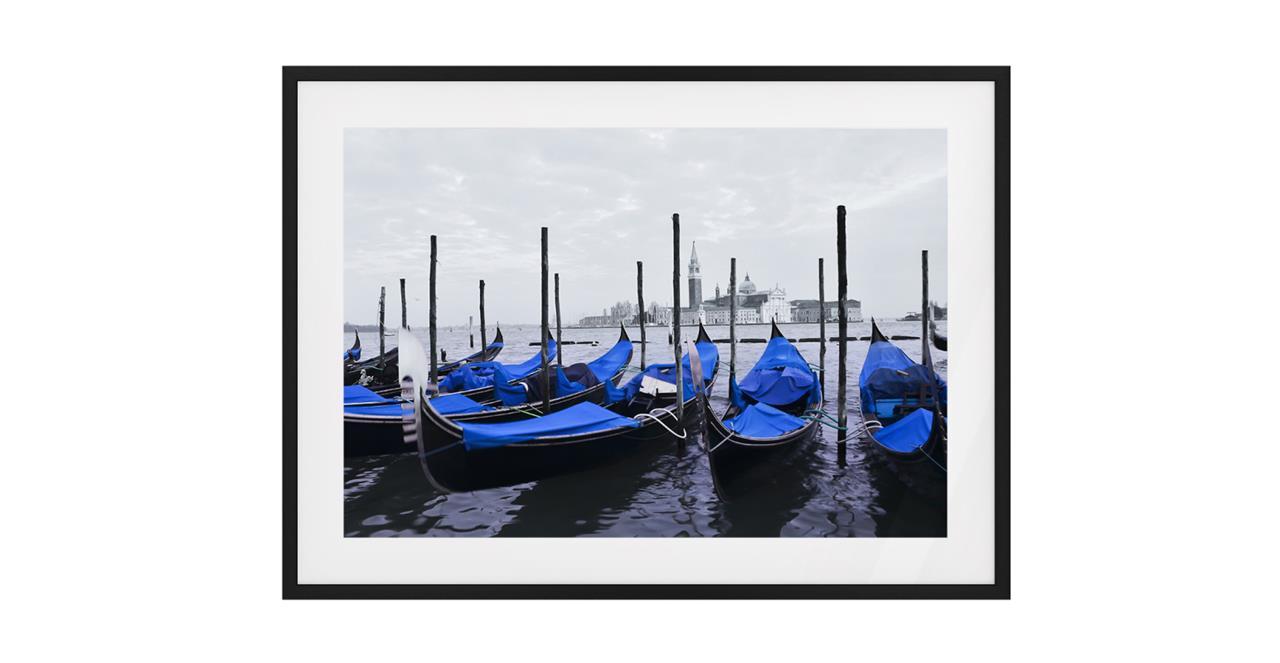 The Gondola Print Black Wood Frame Medium