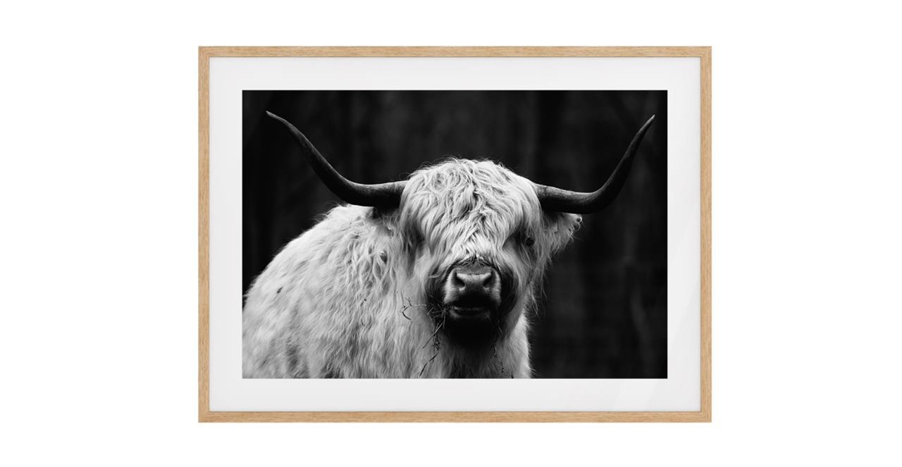 The Highland Print Natural Wood Frame Small
