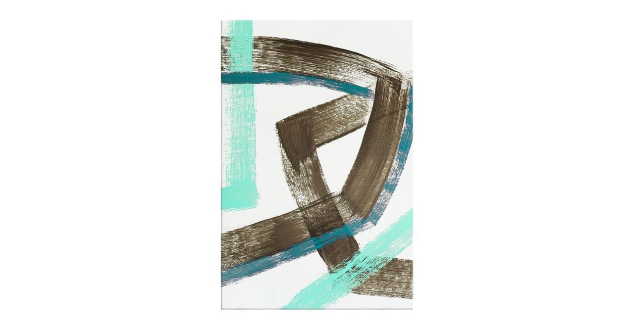 The Interlock Print Canvas Small Brown