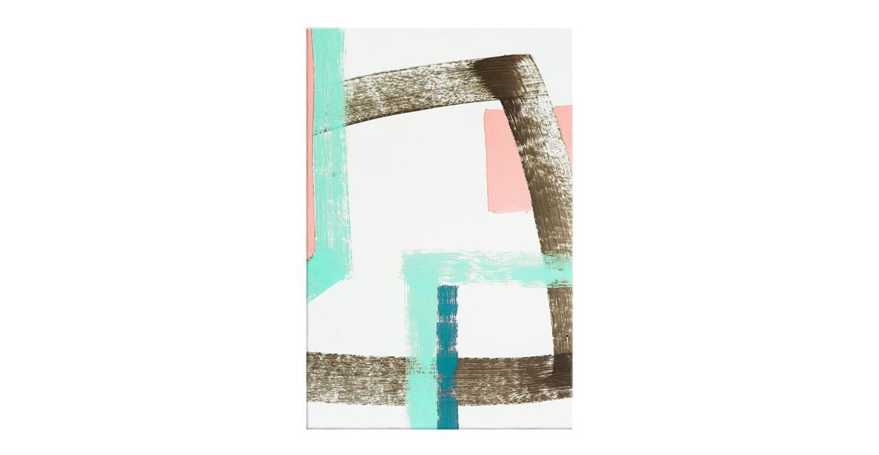 The Interlock Print Canvas Medium Rose