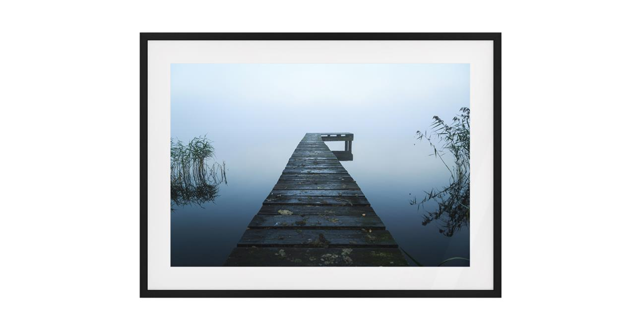 The Jetty Print Black Wood Frame Small