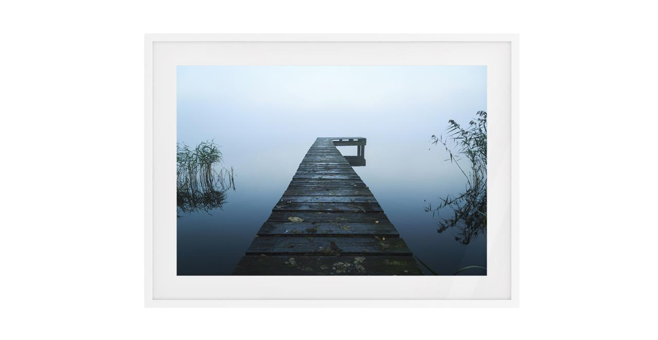 The Jetty Print White Wood Frame Small