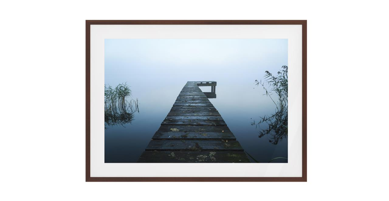 The Jetty Print Dark Brown Wood Frame Small