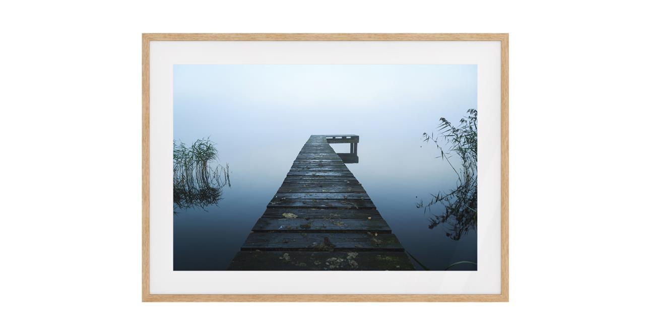 The Jetty Print Natural Wood Frame Medium