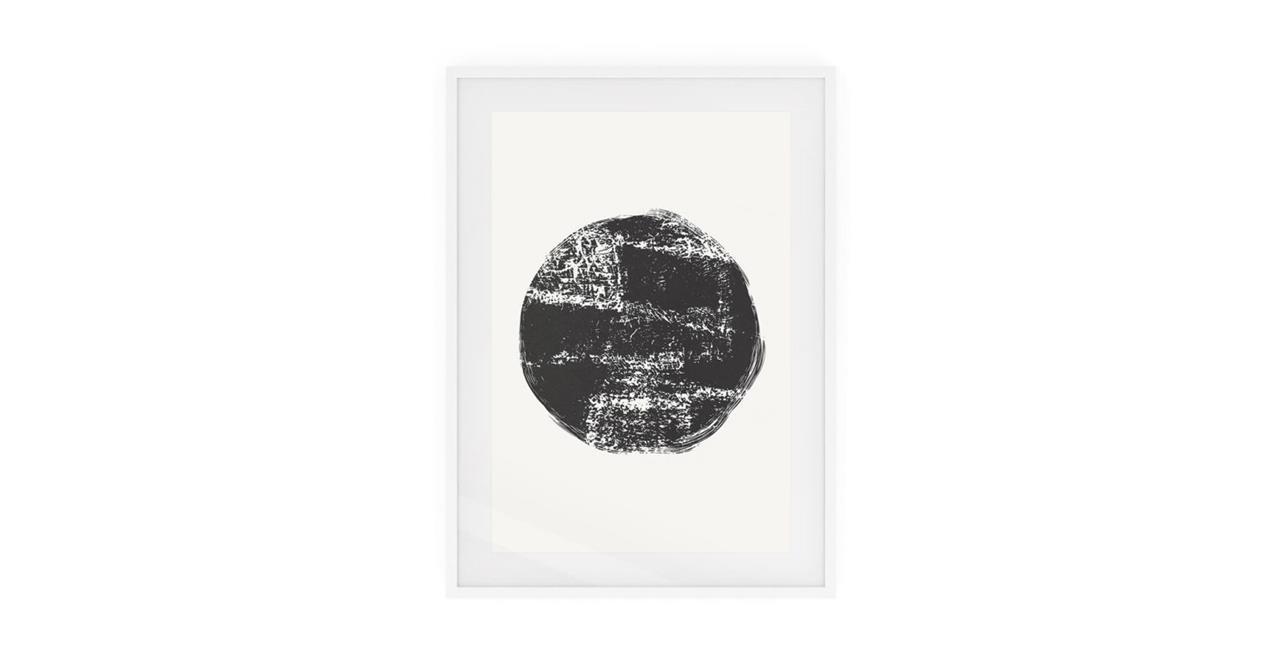 The Lunar Print White Wood Frame Small Full