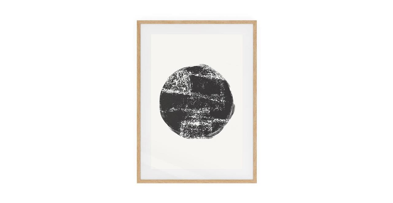 The Lunar Print Natural Wood Frame Small Full