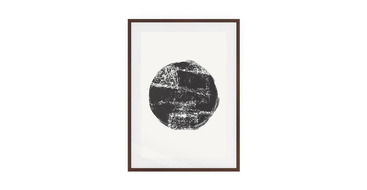 The Lunar Print Dark Brown Wood Frame Small Full