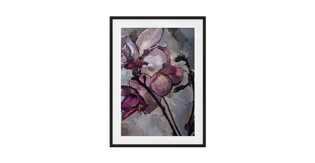 The Magnolia Print Black Wood Frame Medium