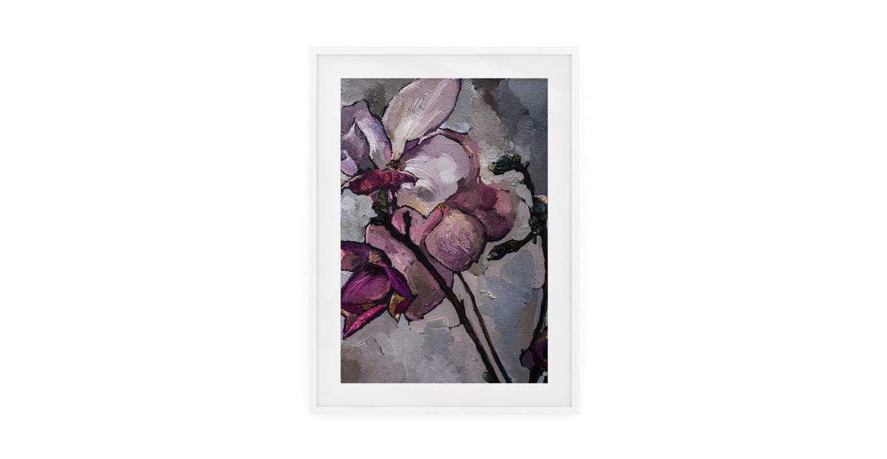 The Magnolia Print White Wood Frame Medium