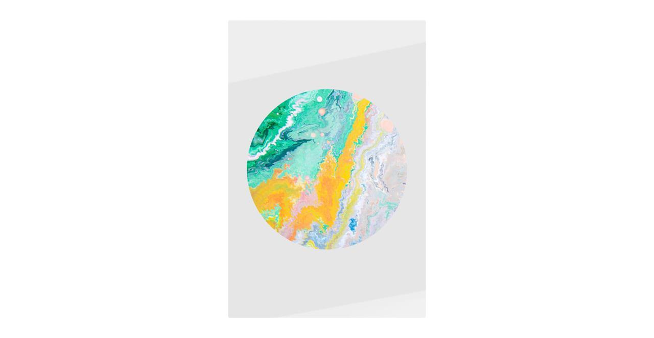 The Marble Print Metal Print Small Yellow