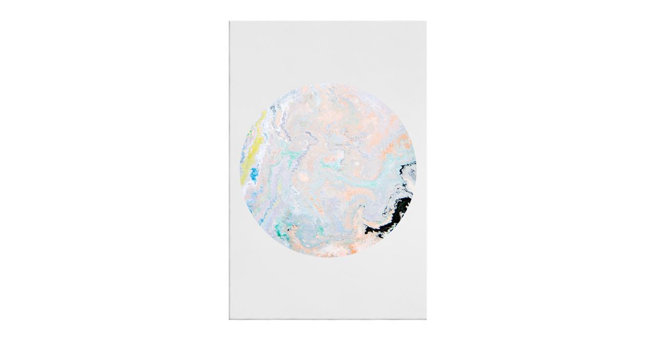 The Marble Print Canvas Medium Lavender