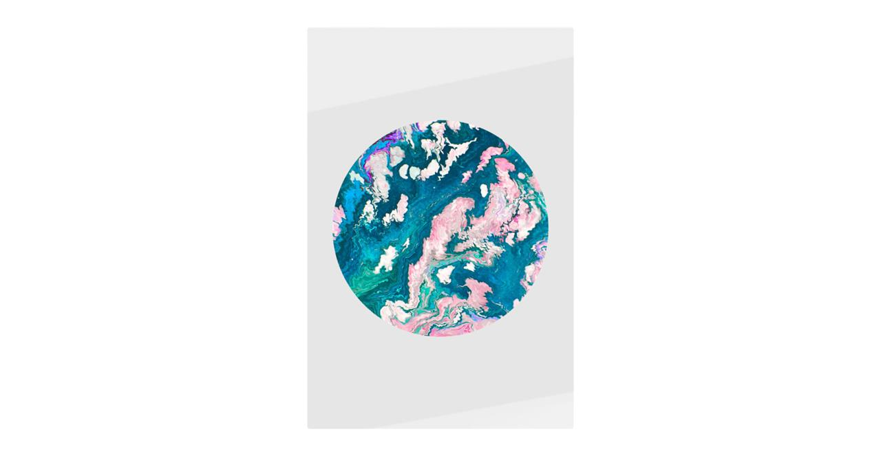 The Marble Print Metal Print Small Navy