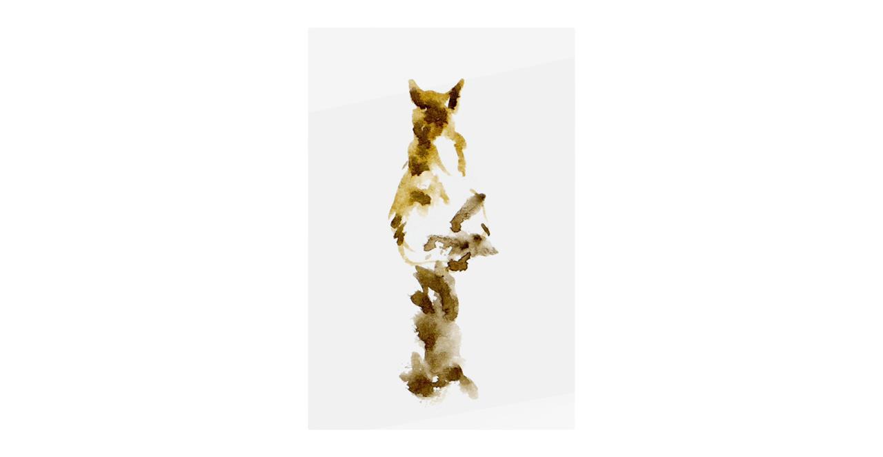 The Mocha Cat Print Metal Print Small