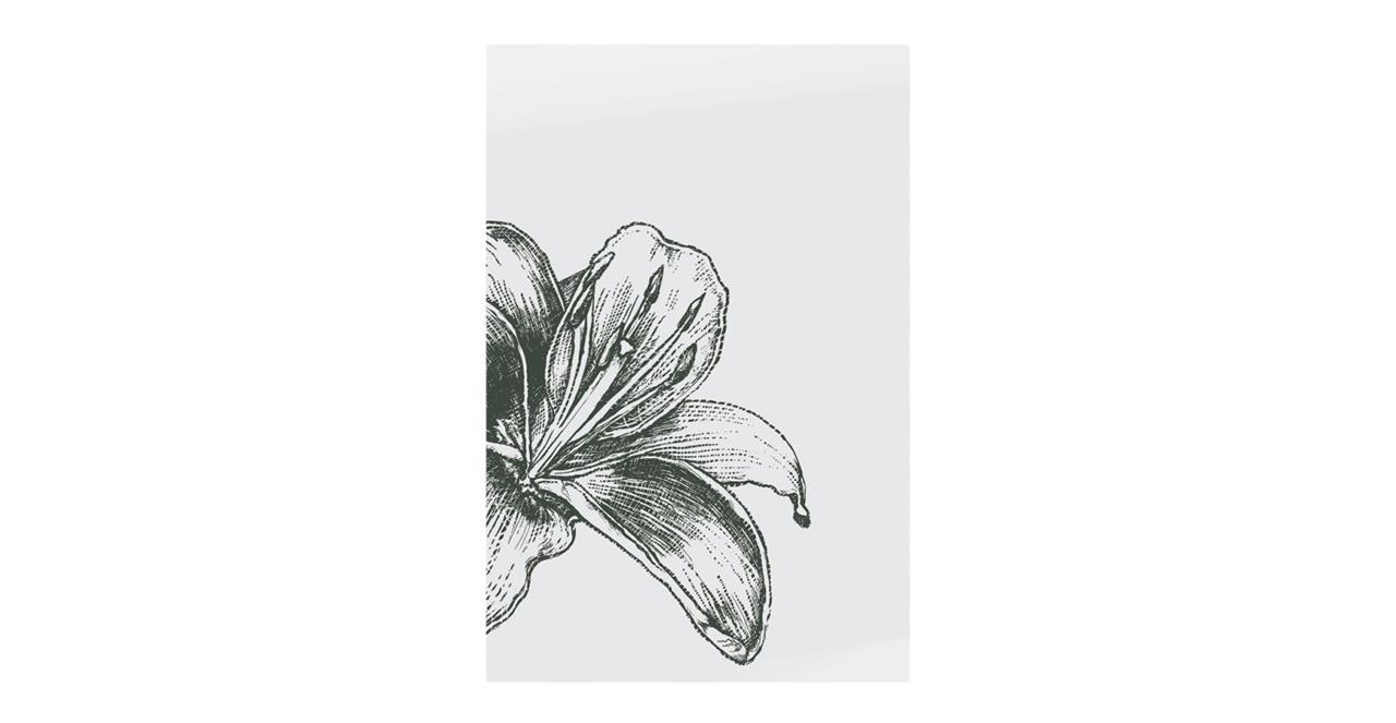 The Monochrome Print Metal Print Medium Lily