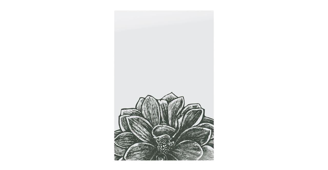 The Monochrome Print Metal Print Small Lotus
