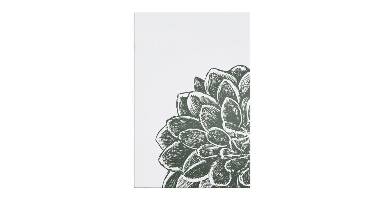 The Monochrome Print Canvas Small Peony
