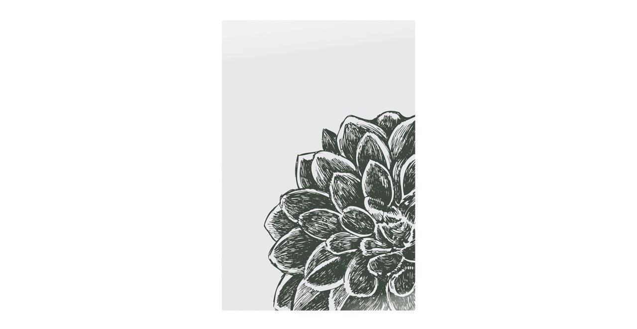 The Monochrome Print Metal Print Small Peony