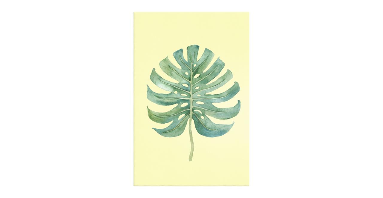 The Monstera Print Canvas Small Monstera Lemon