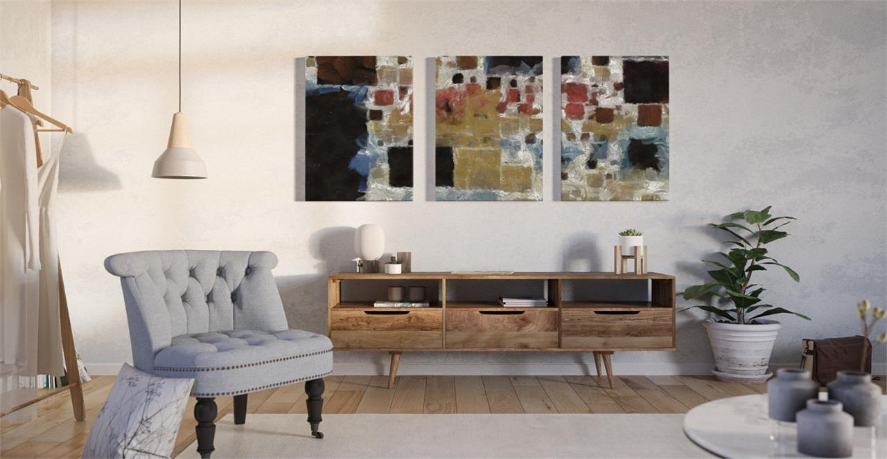 The Mosaic Triptych Set of 3 Medium