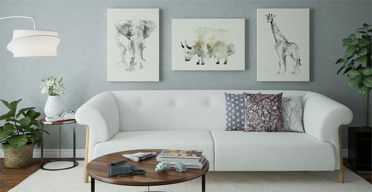 The Safari Triptych Set of 3 Medium