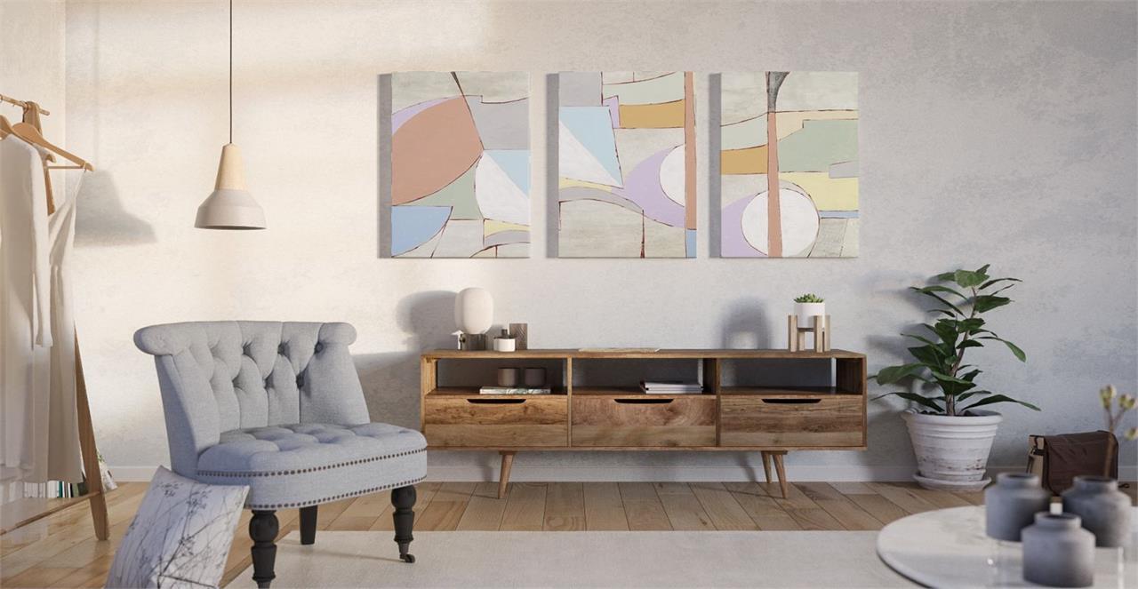 The Sorbet Triptych Set of 3 Medium