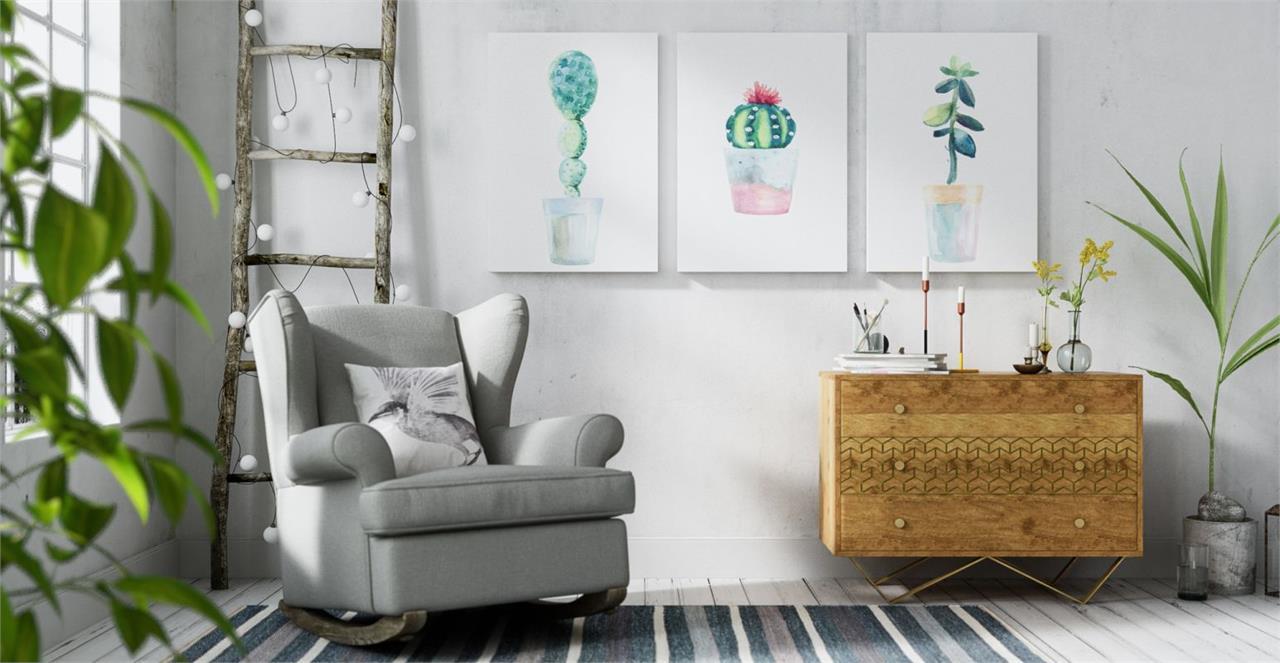 The Succulent Triptych Set of 3 Medium
