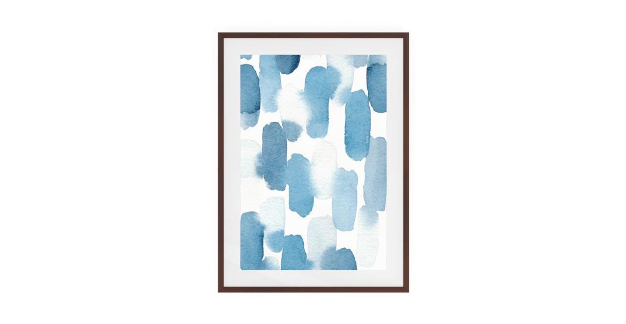 The Wabi Sabi Print Dark Brown Wood Frame Small Imperfect