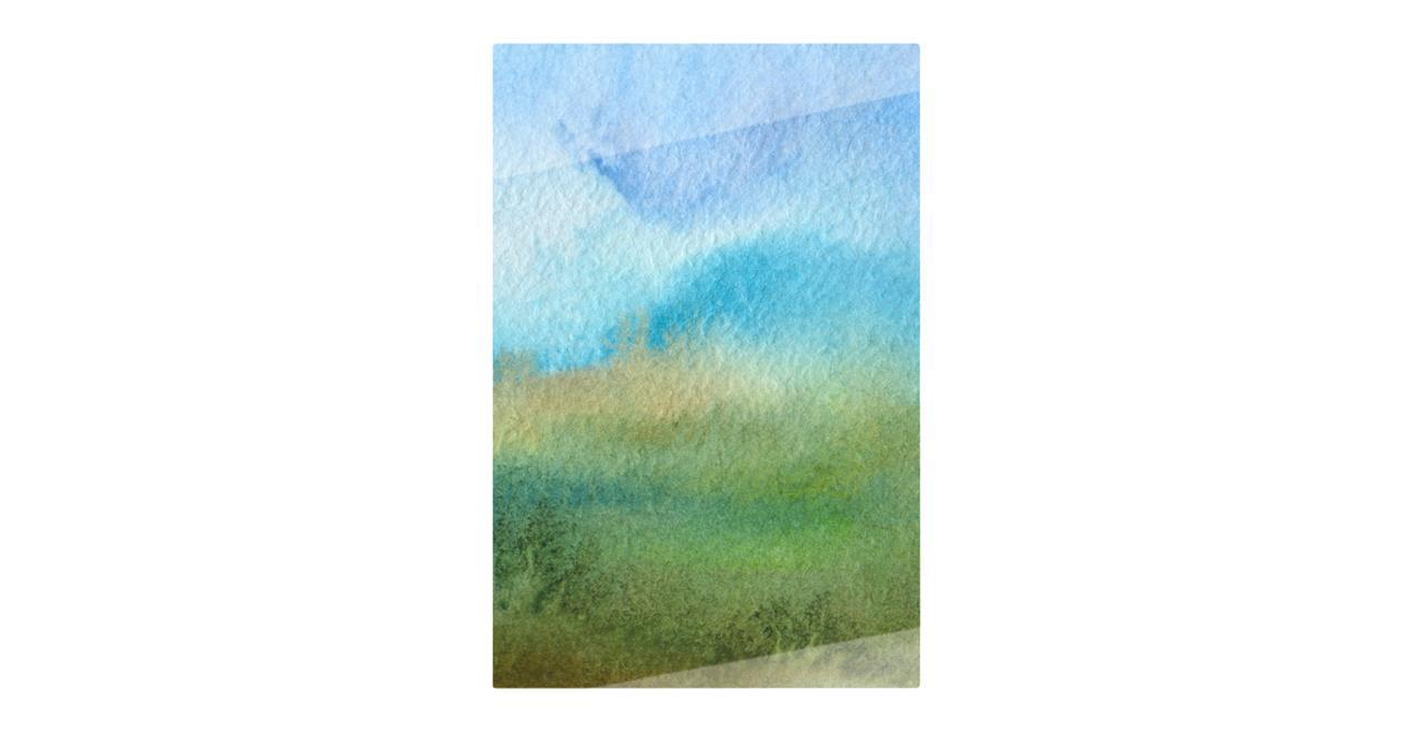The Watercolour Print Metal Print Small