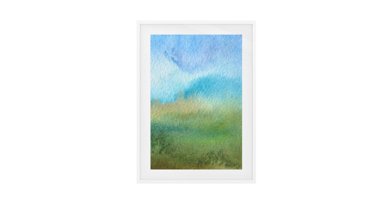 The Watercolour Print White Wood Frame Medium