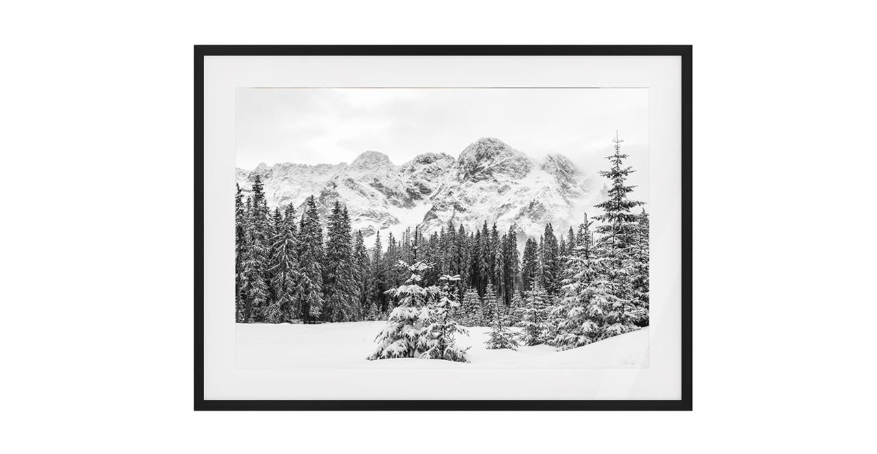 The Winter Print Black Wood Frame Small